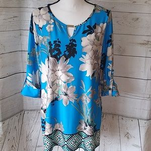New Directions floral print blouse